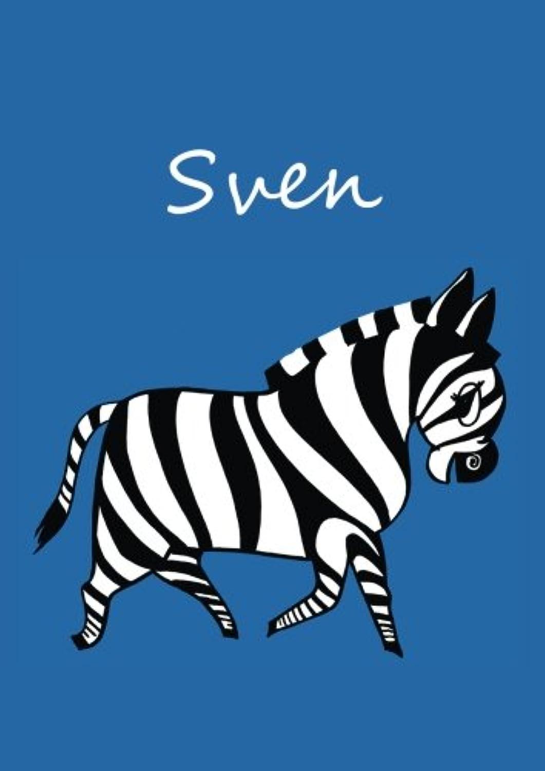 主に落ち着いてスカーフindividualisiertes Malbuch / Notizbuch / Tagebuch - Sven: Zebra - A4 - blanko