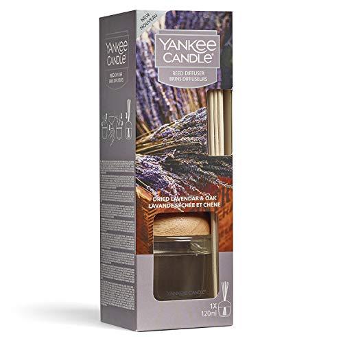 YANKEE CANDLE Diffusore di Aroma a Bastoncini, Lavanda essiccata e Quercia, 120 ml, Durata della fragranza: Fino a 10 Settimane