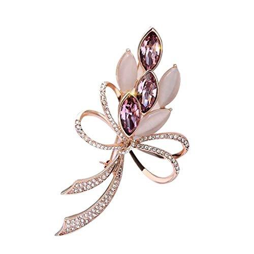 KLHHG Broche de Cristal, Perla Broche, Broche de la Flor de la joyería del Partido de Boda Pin for Mujeres...