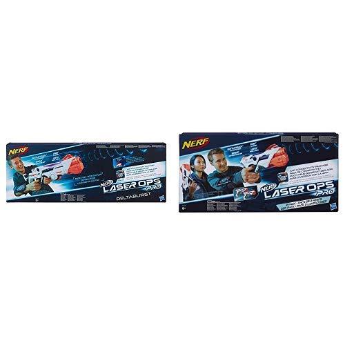 Nerf Laser Ops Pro DeltaBurst, LaserTag-Blaster inkl. Licht- & Soundeffekt &  Laser Ops AlphaPoint, 2er Set, LaserTag-Blaster  & Soundeffekt, Kinder-Spielzeug, inkl. Schnell-Lade-Taste