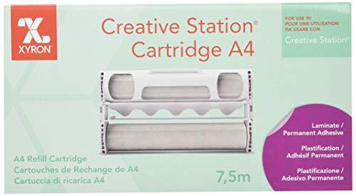 Cartucho de recambio para creación de señales plastificadas con Xyron Creative Station, A4, Superficie de adhesivo permanente, 7,5m, 23463