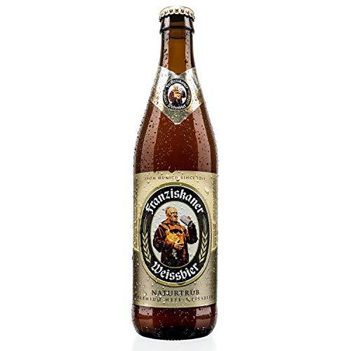3. Franziskaner – Cerveza de trigo de 500 ml con 5% de alcohol