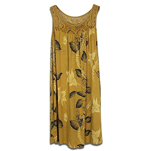 Generice Vestido sin mangas para mujer con costuras explosivas Amarillo amarillo XL