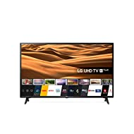 LG 49UM7050PLF 49 inch UHD 4K HDR Smart LED TV with Freeview Play - Ceramic Black Colour (2020 Model...