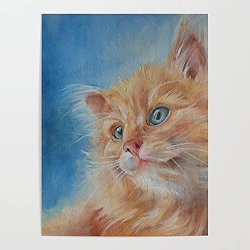 Beaxqb Pintar por Numeros Adultos, Gato de Pelo Largo Animal DIY Pintura por números con Pinceles y Pinturas Decoraciones para el Hogar Lienzo Regalo de Pintura para 40X50cmSin Marco