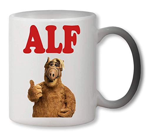 KRISSY Alf Portrait Tv Show Design Standing Showing Finger Heat Mug Color Changing Cup Farbwechsel Tasse