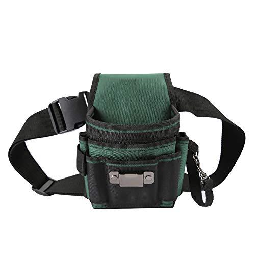 JAKAH JK-020 Bolsa de herramientas de cintura 100% nueva con 12 bolsillos y cinturón de hebilla ajustable para electricista Jardín 2019 Bolsa de herramientas Soporte de kits de envío gratis