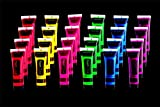 Glow Black Light Face and Body Paint 24 tubes Box Neon Face Paint in the Dark Black Light Paint