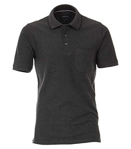 CASAMODA Herren Polo-Shirt Uni Grau 3XL