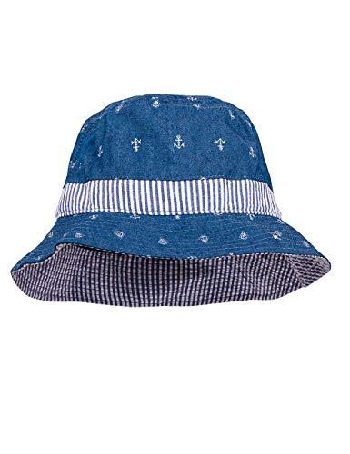 maximo baby-jongenshoed, anker zonnehoed, blauw (denim blue-boot navy 6348), 49