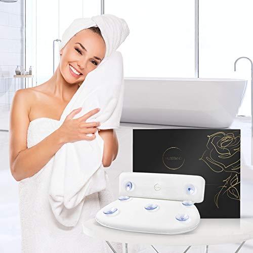 husstand® Komfort Badewannen Kissen mit Saugnäpfen I Badekissen für Badewanne inkl. Geschenkverpackung I Nackenkissen Badewanne I Bath Pillow