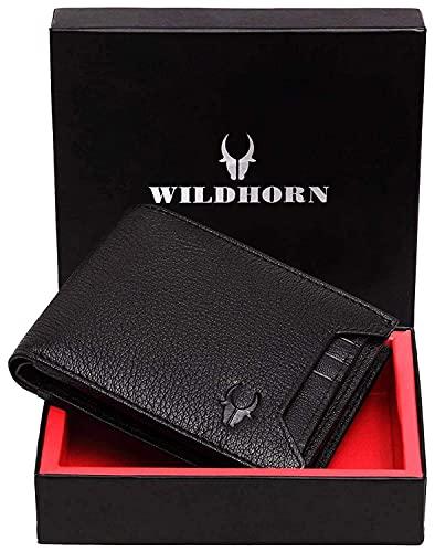 WILDHORN® Leather Wallet for Men(Black)
