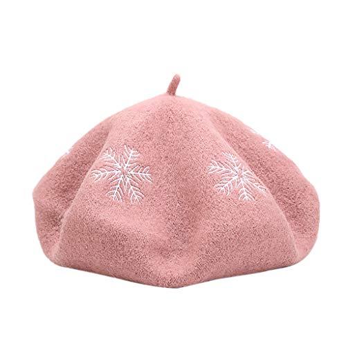 AIORNIY - Cappello da Pittore da Donna, Stile Vintage, in Lana, per Autunno e Inverno Pastèque Rouge Taglia Unica