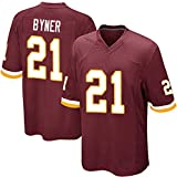 T-Shirt pour Hommes Byner 21# Washington Redskins Rugby Jersey, Polo Shirt Undershirt Short-Sleeveed Students Young Boys Kids Senior Game Training Polyester S-3XL White Red-Red-XL