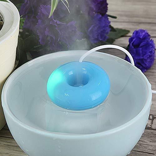 Harddo Mini-donuts luchtbevochtiger, draagbare USB-mistfabrikant, ultrasone luchtbevochtiger, diffusoren voor op kantoor, thuis, slaapkamer, reizen, drijft op het water head blauw