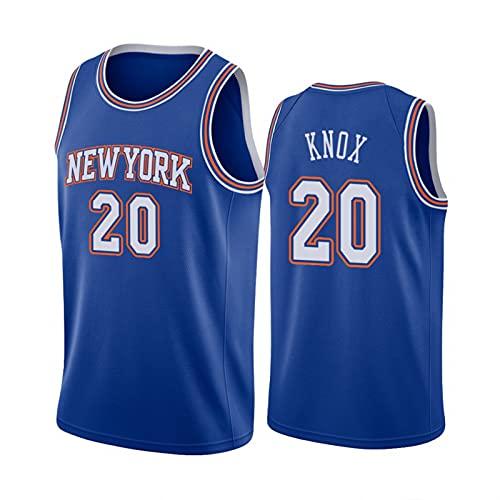 FHXY Konx Knicks # 20 Camisetas de Baloncesto de los Hombres, la Ropa Deportiva cómoda y Transpirable, Las Tapas sin Mangas, la Mejor opción para los Deportes al Aire lib White-XXL