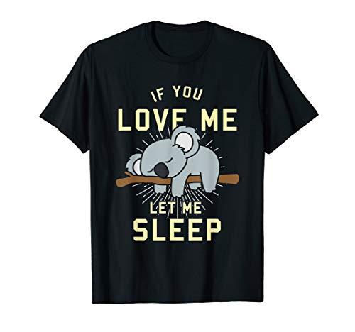 Niedliches Tier Geschenk Schlafender Koala T-Shirt