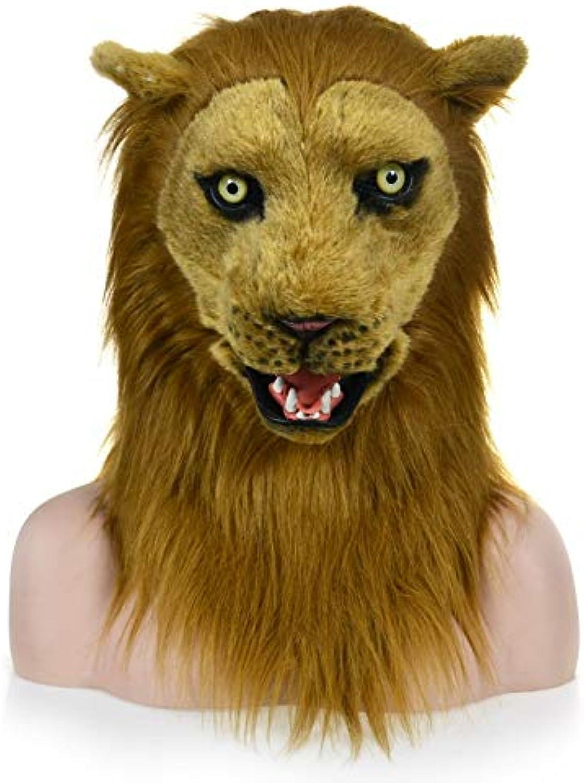 comprar mejor WENQU MásCochea Diverdeida de la Ropa Ropa Ropa Adulta de la Piel Artificial de la Boca móvil Directa de la fábrica - másCochea del león como uno (Color   marrón, Talla   25  25)  envio rapido a ti