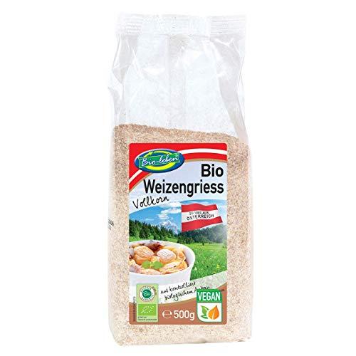 Sémola de trigo integral orgánica de Austria 3 kg BIO, austríaca, vegana, 100% natural 6x500g