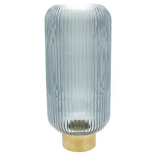 GreenGate - Vase Fluted Grey - Glas, Metall - 40 cm