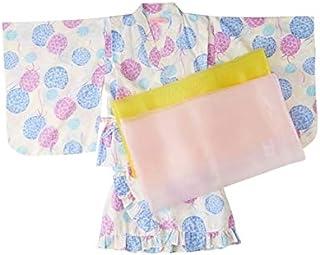 [nissen(ニッセン)] 浴衣 ドレス 浴衣 上下+帯2本 女の子 子供服 キッズ 女の子 セット組