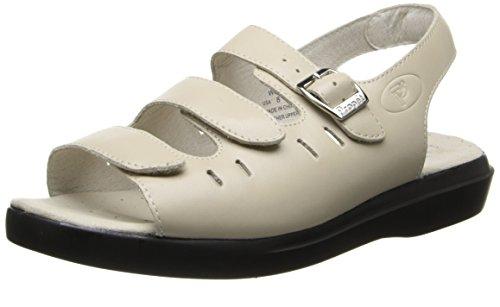 Propet Women's Breeze Walker Sandal, Bone Smooth, 10.5 M US