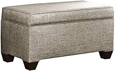 Tremendous Amazon Com Homepop Leatherette Storage Bench With Wood Tray Inzonedesignstudio Interior Chair Design Inzonedesignstudiocom