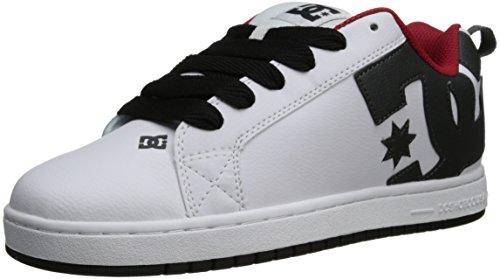 DC Shoes Court Graffik, Zapatillas de Estar por casa para Hombre, White/Athletic Red/Battleship, 35 EU