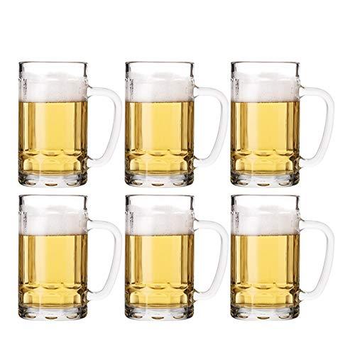 Cristal Premium - Cata de vinos Gafas de cerveza, conjunto de vidrio, conjunto de vidrio de cerveza, taza de cerveza grande con mango, vidrio de cerveza Lavavajillas seguro perfectamente adecuado para