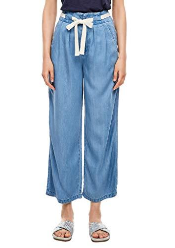 s.Oliver Damen Regular Fit: Culotte aus Lyocell Light Blue 40