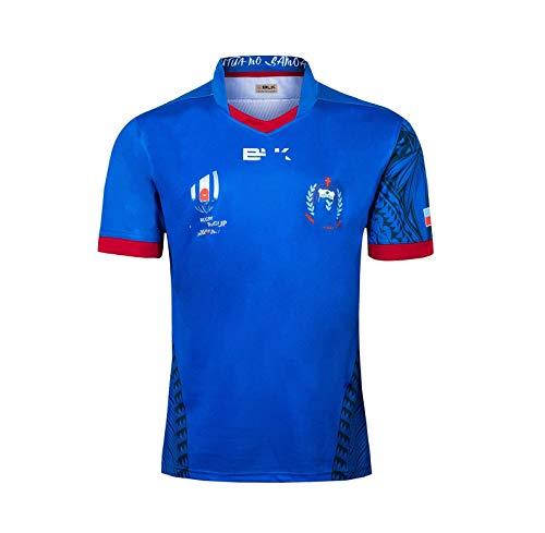 ZeYuKeJi Lässige Sportswear Rugby Jersey, 2019 WM-Samoa nach Hause Rugby Jersey, Rugby Jersey-Fußball-WM Männer (Size : Large)