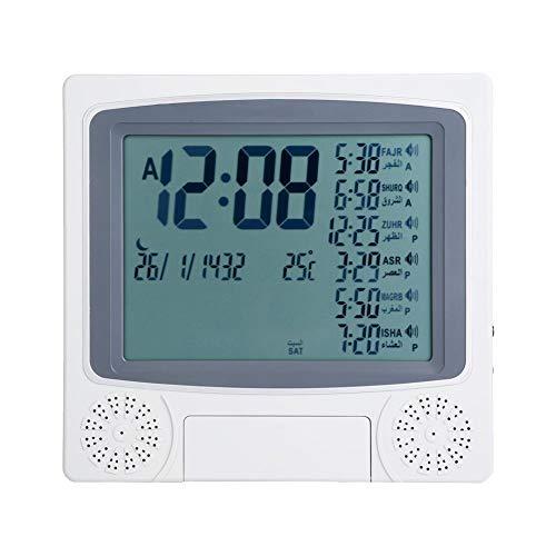 Hilitand Moslemische islamische Betende Uhr Azan Athan Gebet-Warnung LCD-Uhr-Wand-Tischuhr