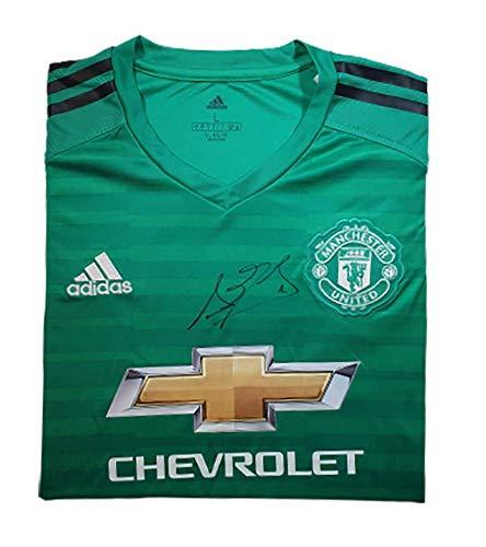 David De Gea 2018–19 Manchester United Autogramm-Trikot (Home) – MUFC Manchester United Football Club Autogramm Fanartikel Souvenir Geschenk ...
