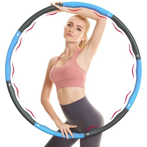 NOROTA Hula Hoop, Hula Hoop Reifen Erwachsene& Kinder mit 6-8 Abnehmbare Segmente, für Gewichtsverlust und Massage, Hula-Hoop-Reifen Für Fitness/Bauchformung/Sport/Zuhause/Büro(Blau)