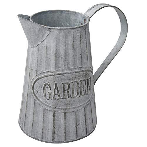 Macetero Decorativo Vintage de Metal para Interior/Exterior. Original en Forma de Regadera, Garden 20x9x19 cm - Hogar y Más