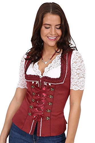 Moschen-Bayern Trachtenmieder Damen Trachtencorsage Dirndlmieder Corsage Mieder Trachten Rot