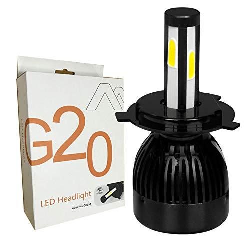 Kit de conversion phare G20 LED, projecteur de faisceau de phare de voiture, faisceau de route, 12V 24V HID 6500K remplacement de phare blanc xénon ou halogène, 1PC,H7