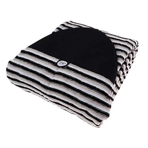 Tenlacum Funda de calcetín para Tabla de Surf de 5,0 a 10,6ft, Ligera, elástica, con Cierre de cordón y Protector de Nariz Acolchado y Bolsa (7.0ft)