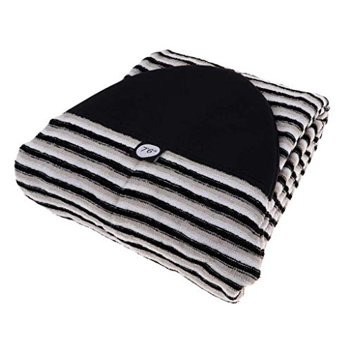 Tenlacum Funda de calcetín para Tabla de Surf de 5,0 a 10,6ft, Ligera, elástica, con Cierre de cordón y Protector de Nariz Acolchado y Bolsa (8.0ft)