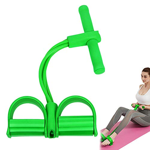 ZoneYan Multifunktions-Spannseil, Pedal-Widerstandsband, Bodybuilding Expander, Elastische Zugseil Trainingsgeräte, Leg Exerciser Pull Rope, Pedal Body Bauchtrainer, Resistance Bands Situps (Green)