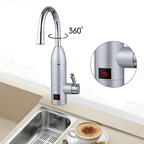 3000W hocheffizienter elektrischer Wasserhahn Badezimmer sofortiger elektrischer Warmwasserbereiter 360 °