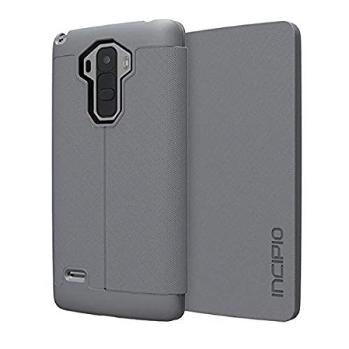 LG G Stylo Case, Incipio [Fabric Folio] Lancaster Case for LG G Stylo-Gray