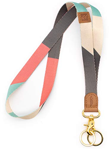 POCKT Neck Lanyard Keychain Holder for Men and Women - Cool Lanyards for Keys Wallet and ID Badge Holder with 2 Key Ring | Cross