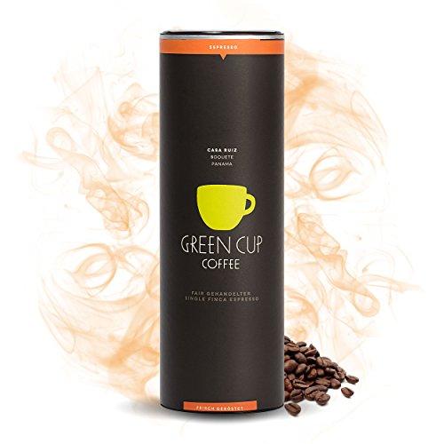 Green Cup Coffee Casa Ruiz - fair gehandelte Arabica Espresso Bohnen aus Panama - Gourmet Espressopulver aus der ganzen Kaffee Bohne - für Espressokocher geeignet - 454g Dose gemahlen