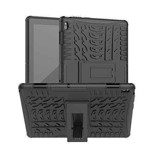 XITODA Hülle für Lenovo Tab E10,Hybrid PC + TPU Silikon Hülle Mit Stand Schutzhülle für Lenovo Tab E10 TB-X104F/X104L 10,1 Zoll Tablet Hülle Cover Tasche,A-Schwarz