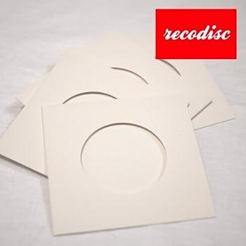 レコード型CD-R レコディスク用 厚紙ジャケット白 穴空き 50枚