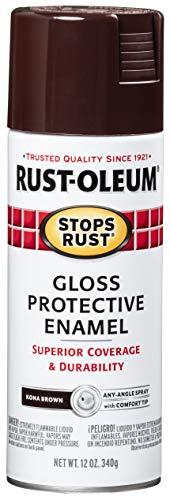 Rust-Oleum 267112 Stops Rust Spray Paint, 12-Ounce, Kona Brown