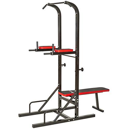 TecTake Multiestación Maquina de musculación Aparato Dip Banco Barra de dominadas Dimensiones: 180 x 95 x 210 cm