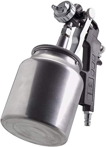 FERM Pistola a Spruzzo per Verniciatura con Serbatoio a gravità da 750 cc. Max. portata vernice dell ugello 6,5 cfm