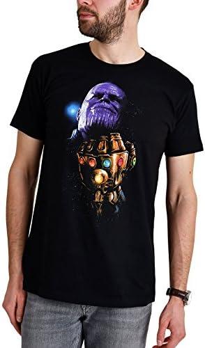 Avengers Camiseta para Hombre Thanos Gauntlet Infinity Was Marvel Elven Forest algodón Negro